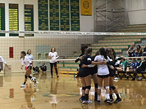 JV Volleyball Serves Their Competition