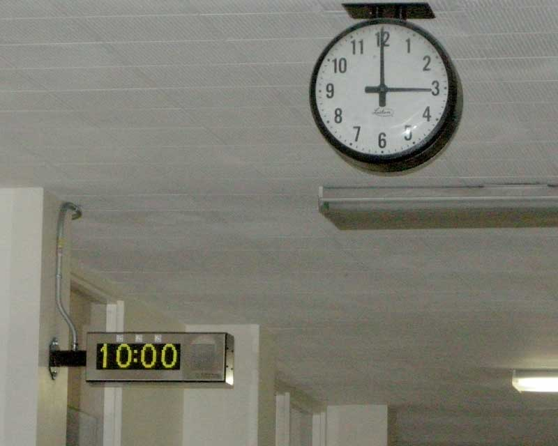 Clocks And New Pa Speakers Installed In Every Classroom