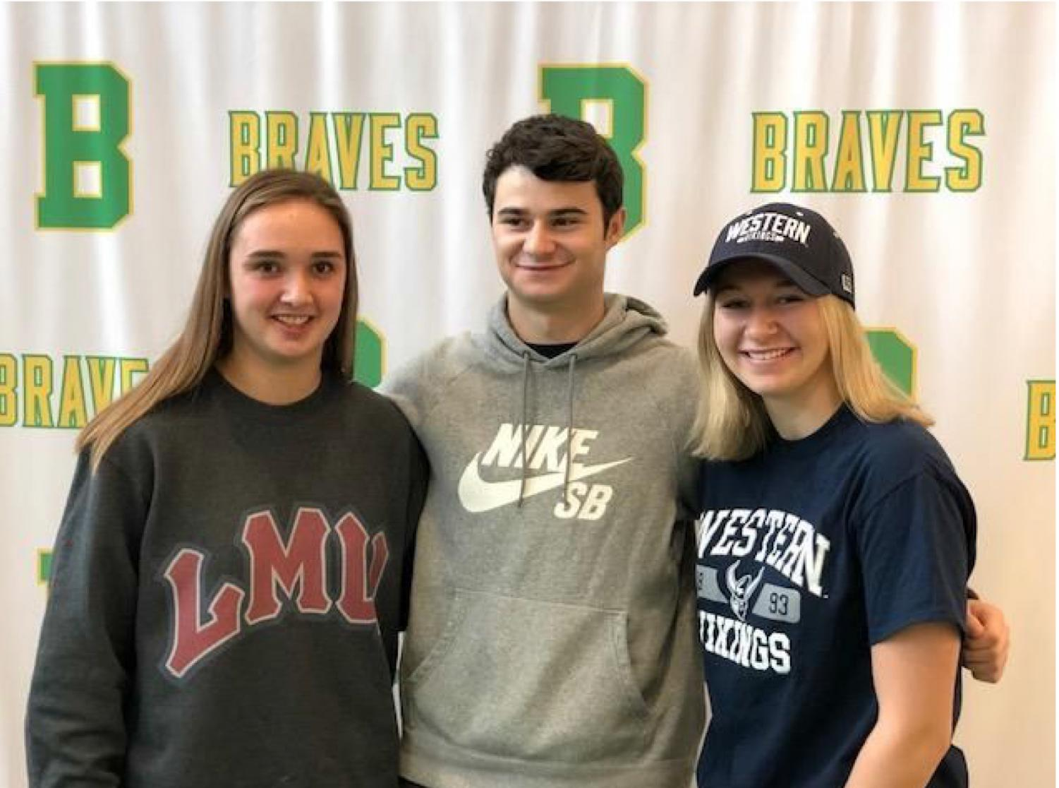 Brave athletes continue in college