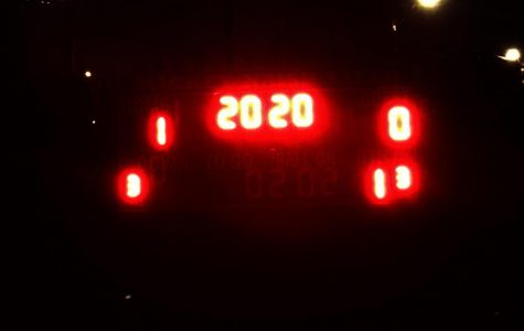 The scoreboard read 2020 in tribute to the senior class On April 17.