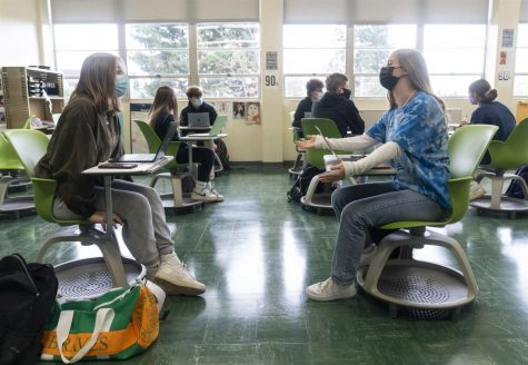 Blanchet Students Adapt to Being Back in the Building