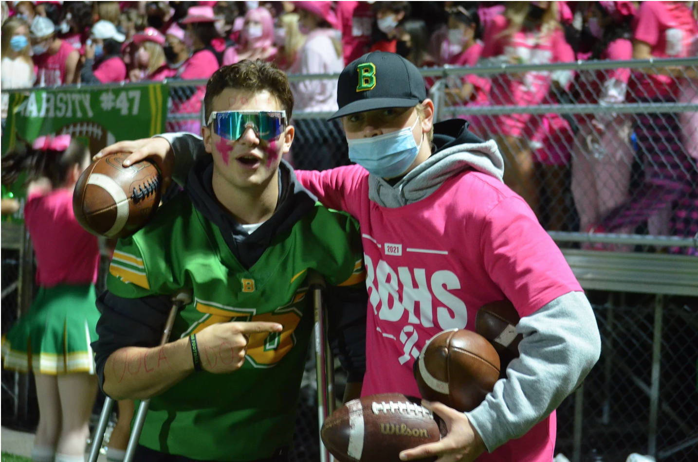 Blanchet Roughs Up the Riders, Pink Out Style